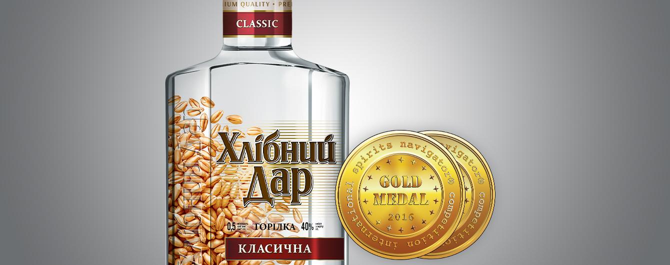 Украинская водка получила «двойное золото»
