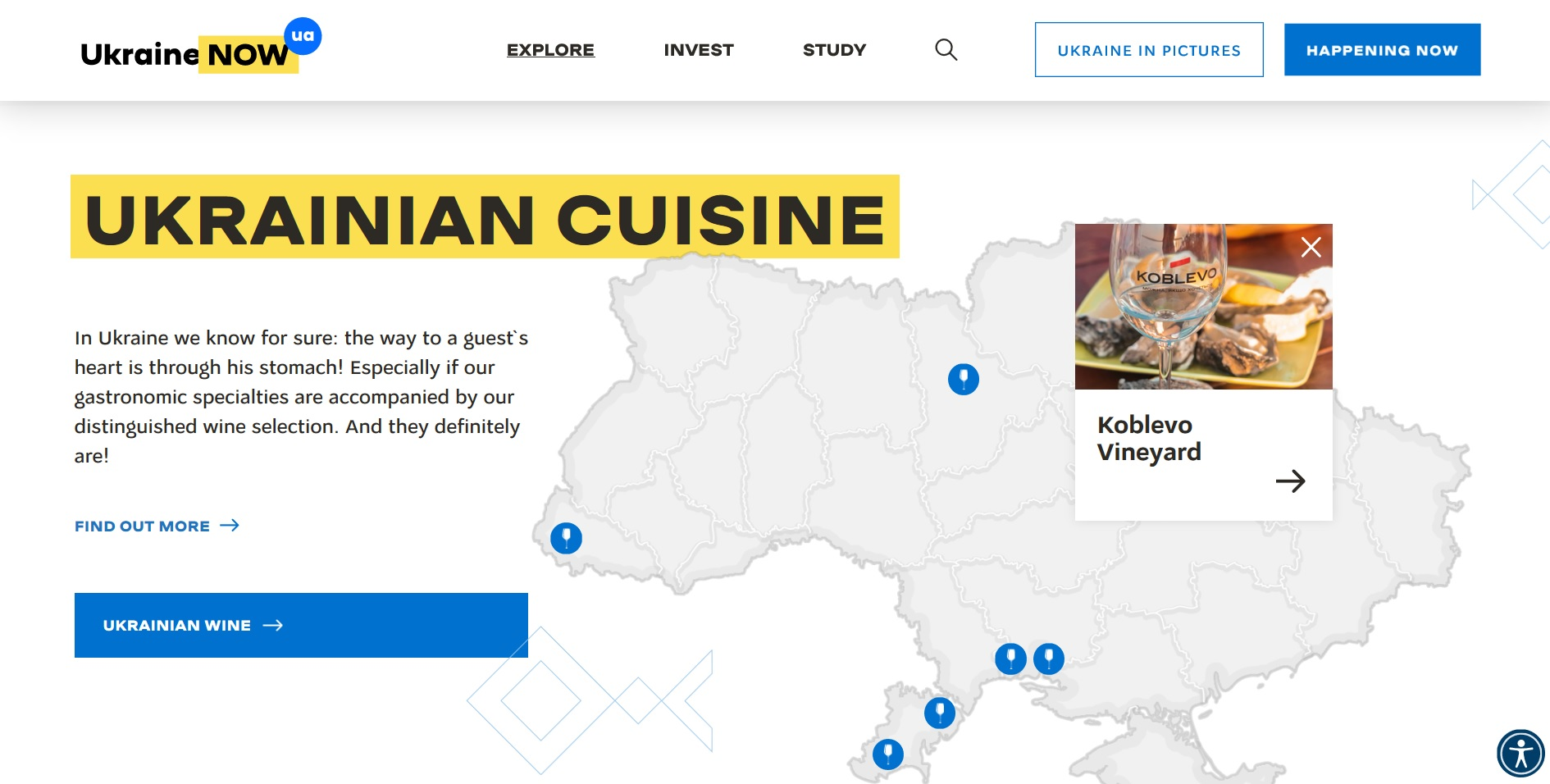 KOBLEVO WINERY WAS MENTIONED IN THE LIST OF THE BEST LOCATIONS FOR VISITING FOREIGN TOURISTS ON THE INFORMATION RESOURCE OF THE MINISTRY OF FOREIGN AFFAIRS FROM THE UKRAINE NOW PROJECT!