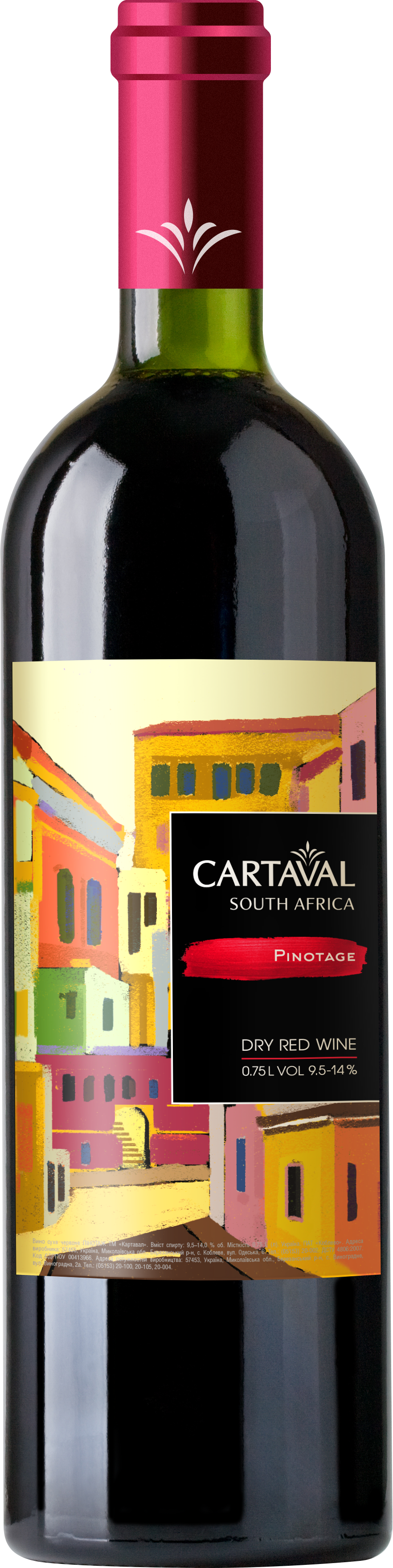 Pinotage South Africa Объем 0,75 л; Крепость 9,5-14 %